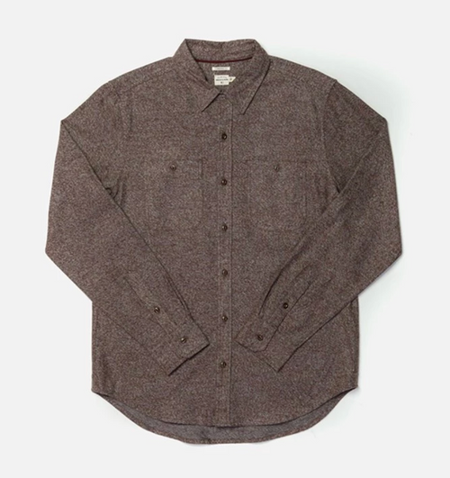 Winslow Long Sleeve Button Up - Brown Heather
