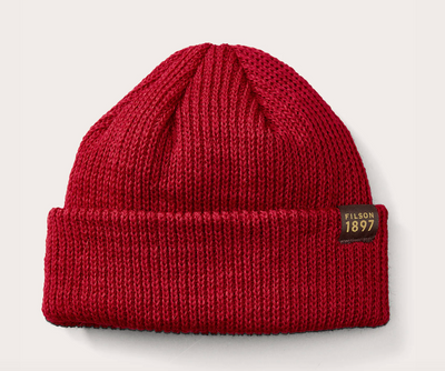 Watch Cap Beanie - Red