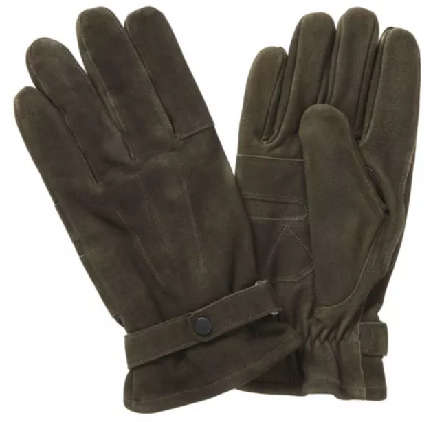 Leather Thinsulate Gloves - Olive