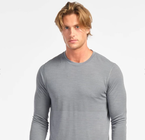 Taupo Wool Seamless Long Sleeve Pullover - Flint Stone