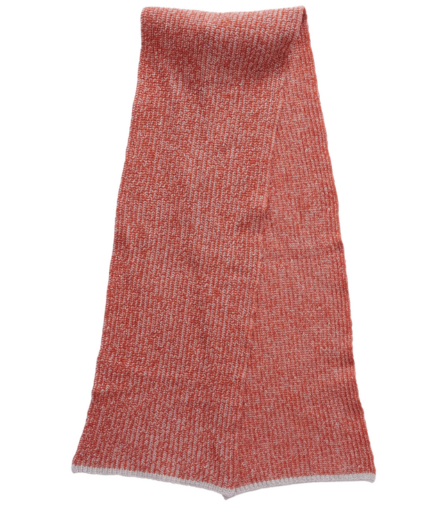 Belmont Plaited Half Cardigan Scarf - Burnt Orange
