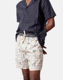 Vacation Bay Jam Short - Cream