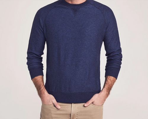 Coastline Long Sleeve Crewneck Pullover - Iris Blue