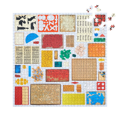 Several Found Things (Numbers, Letters, Shapes) Puzzle