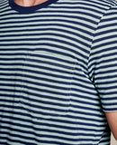 Primo Short Sleeve Crew - Blue Surf Stripe
