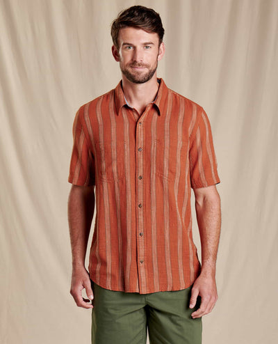 Salton Short Sleeve Shirt - Coconut Shell Stripe