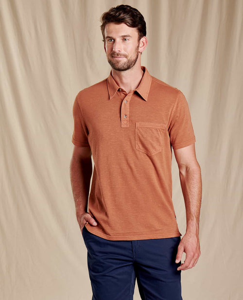 Primo Short Sleeve Polo - Coconut Shell Vintage Wash