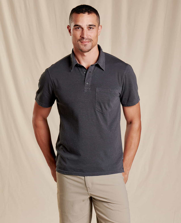 Primo Short Sleeve Polo - Soot Vintage Wash