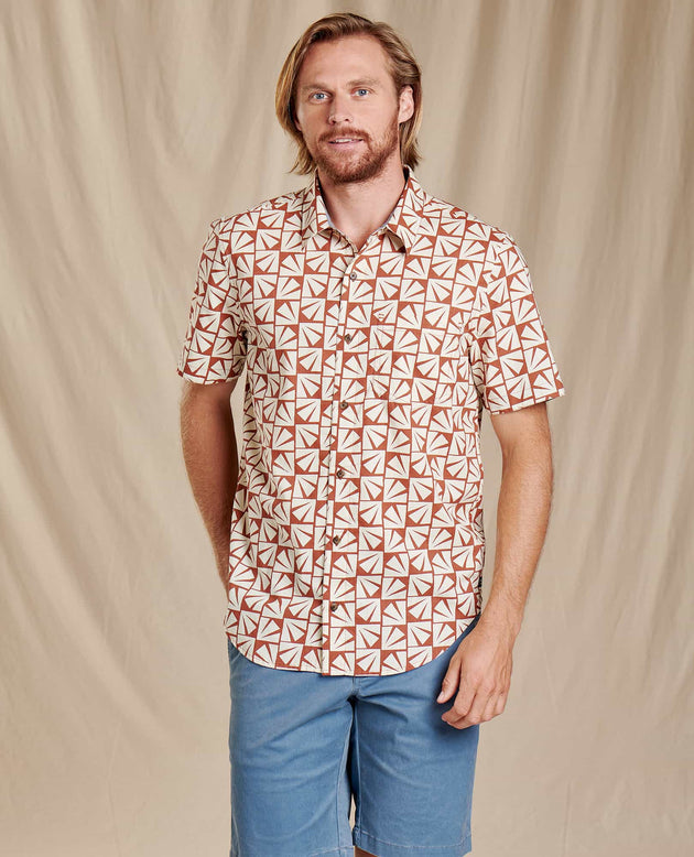 Fletch Short Sleeve Shirt - Coconut Shell Sun Print