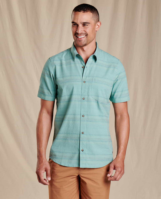 Airlift Short Sleeve Shirt Slim- Blue Surf