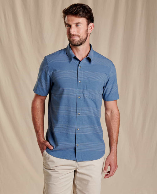 Airlift Short Sleeve Shirt Slim- High Tide