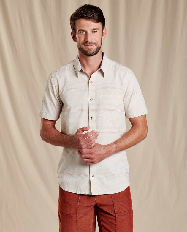 Airlift Short Sleeve Shirt Slim- Salt