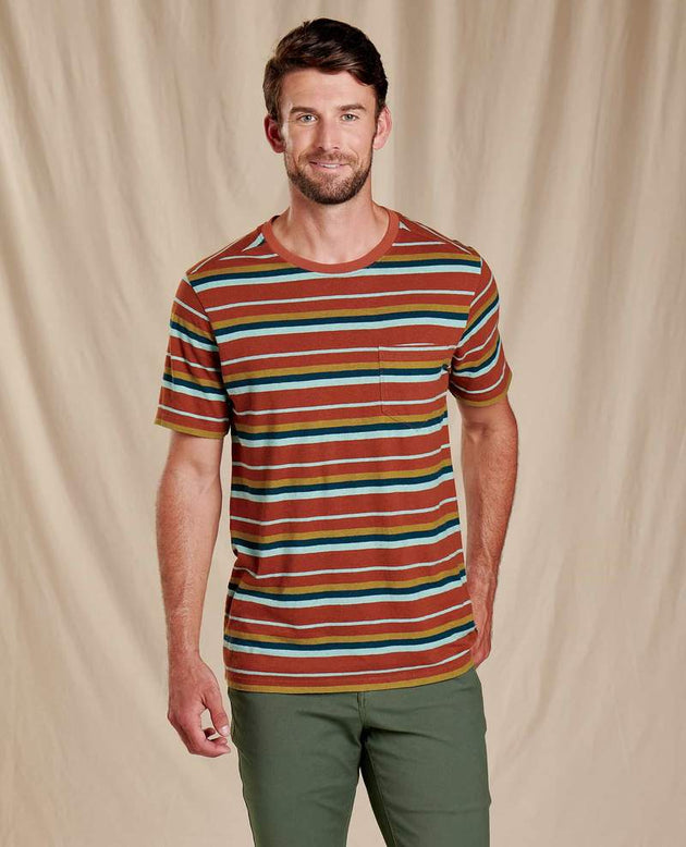 Grom Hemp Short Sleeve Tee - Coconut Shell Stripe