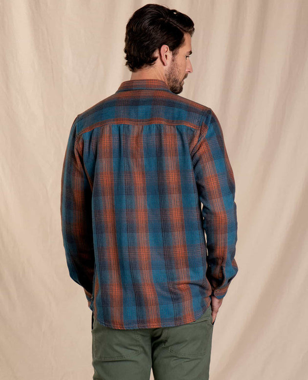 Over and Out Reversible Long Sleeve Shirt - Ox Blue
