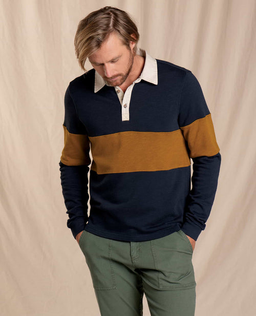 Follow Through Long Sleeve Polo - Big Sky