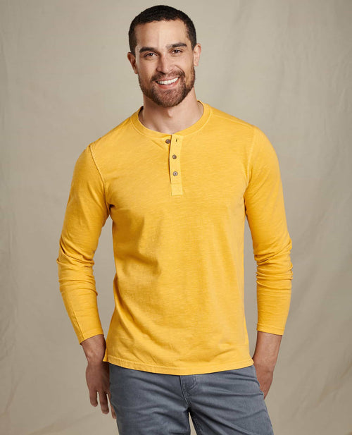 Primo Long Sleeve Henley - Golden Hour