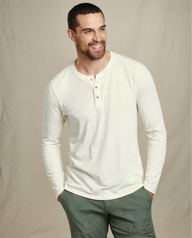 Primo Long Sleeve Henley - Salt