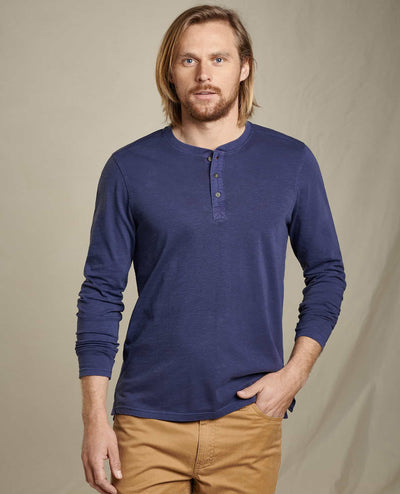 Primo Long Sleeve Henley - True Navy