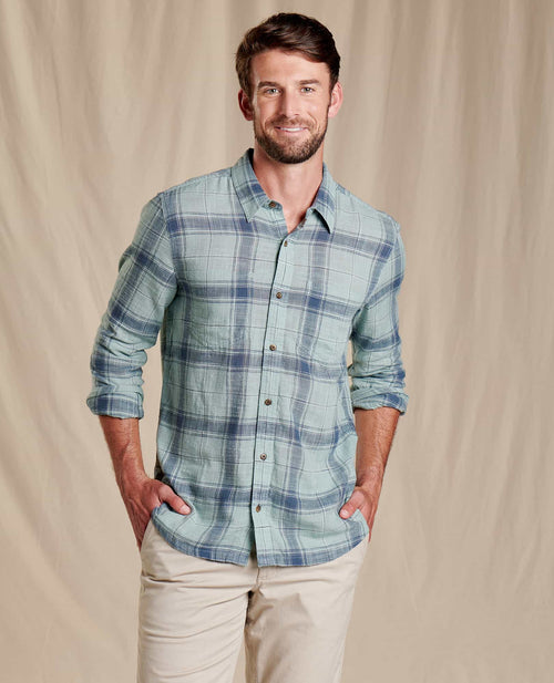 Salton Long Sleeve Shirt - Blue Surf