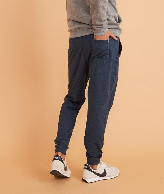 Sport Yoga Jogger - Navy Heather/Mallard Heather
