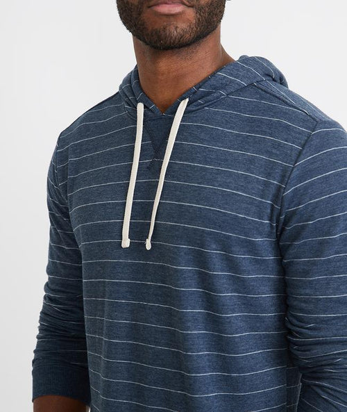 Double Knit Hoodie - Blue/White Stripe