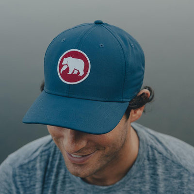 Circle Patch Performance Cap - Mineral Blue/Red