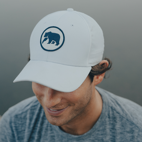 Circle Patch Performance Cap - White/Navy