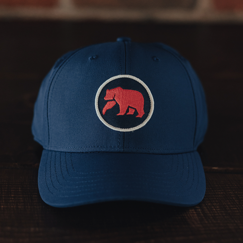 Circle Patch Performance Cap - Navy/Red