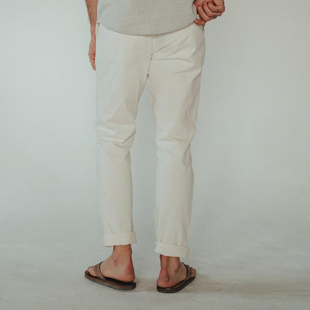 Stretch Canvas Pant - White