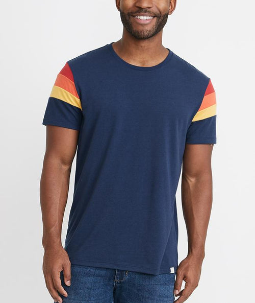 Re-Spun Banks Short Sleeve Crew Tee - Navy