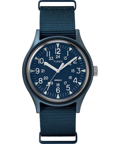 MK1 Aluminum 40mm Fabric Watch - Navy