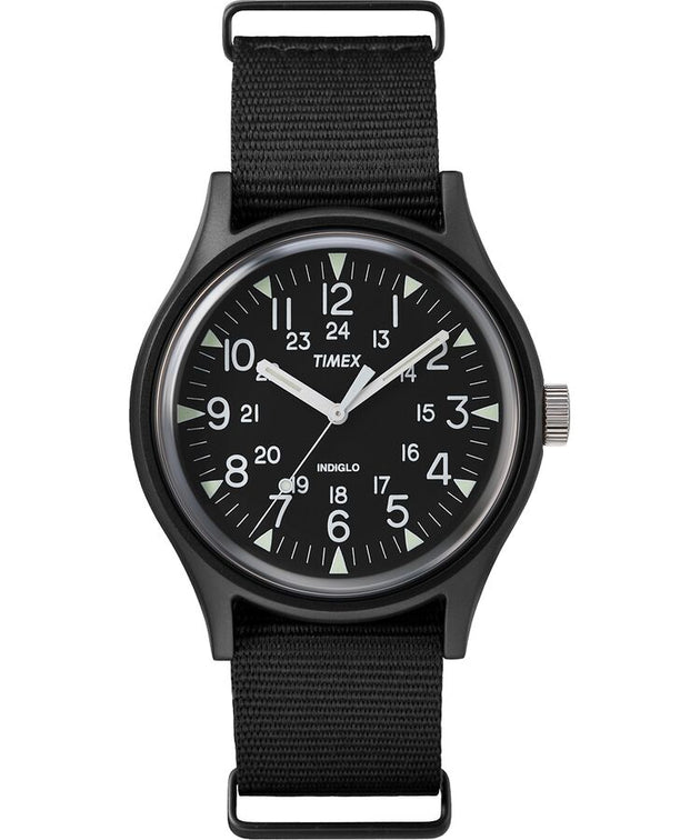 MK1 Aluminum 40mm Fabric Watch - Black