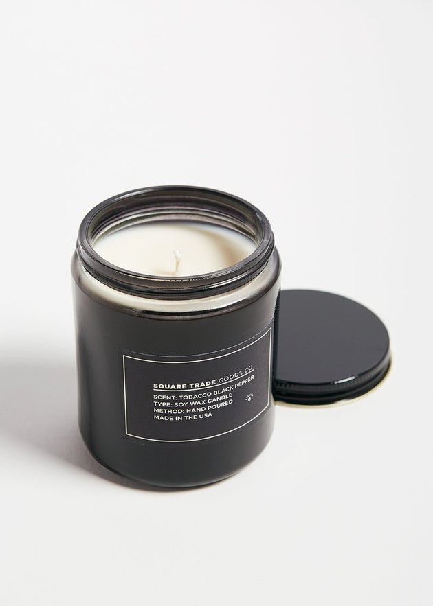Square Trade Goods Soy Candle - Tobacco Black Pepper