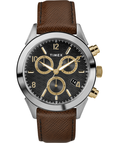 Torrington Chronograph 40mm Watch - Brown/Black/Gold