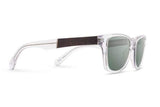 Canby Sunglasses, G15 Polarized - Crystal/Elm Burl