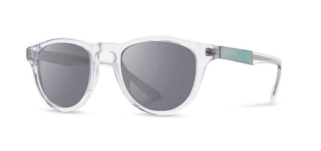 Francis Sunglasses, Silver Mirror - Crystal/Abalone Shell