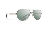 Redmond Sunglasses, G15 Polarized - Silver Titanium/Ebony
