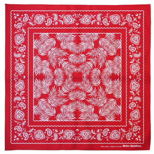 Wild Palms Bandana - Red
