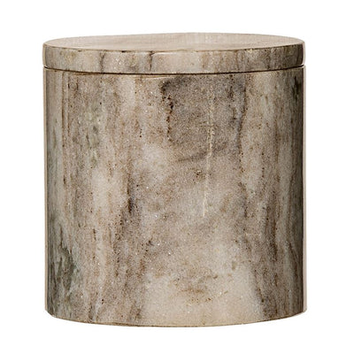 Beige Marble Jar with Lid - Small