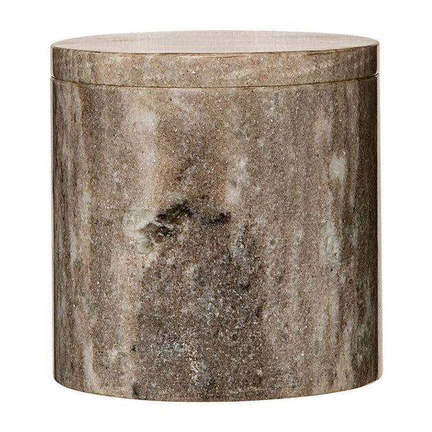 Beige Marble Jar with Lid - Large