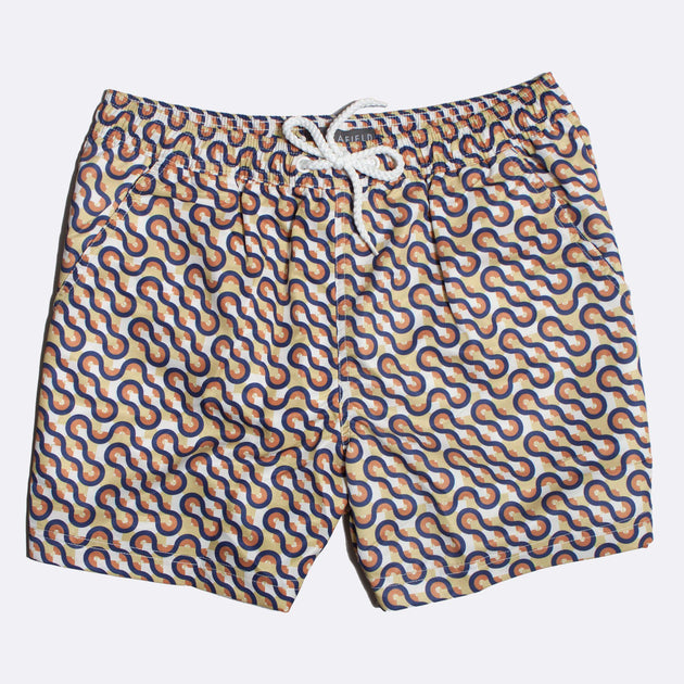Printed Swim Shorts - Waves