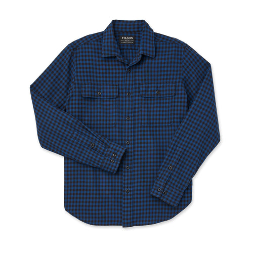 Scout Long Sleeve Button Up - Blue/Black Check
