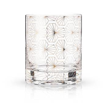 Deco Tumblers, Set of 2 - Flower