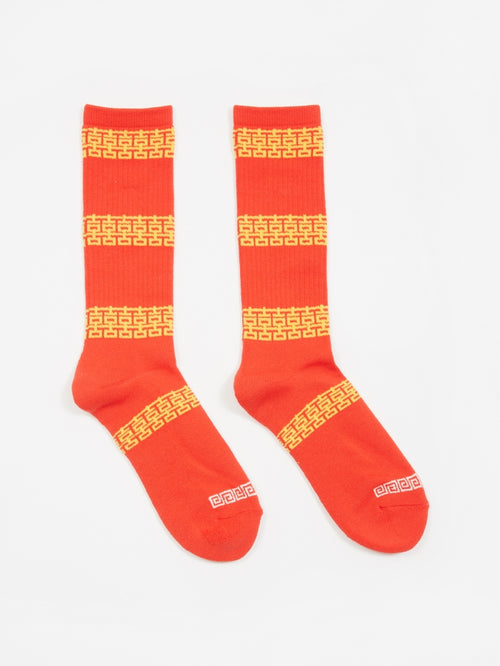 Brick Crew Socks, Red