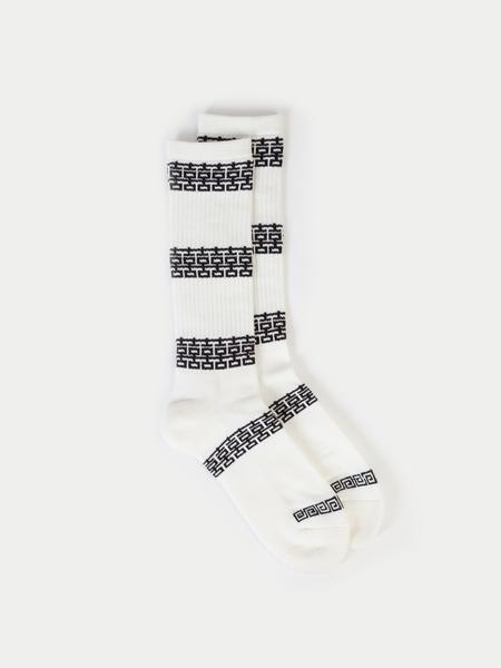 Brick Crew Socks, White/Black