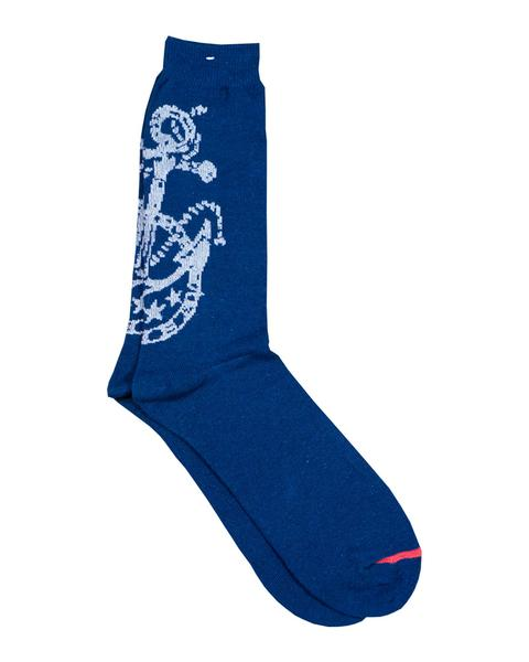 Anchor Crew Socks - Navy