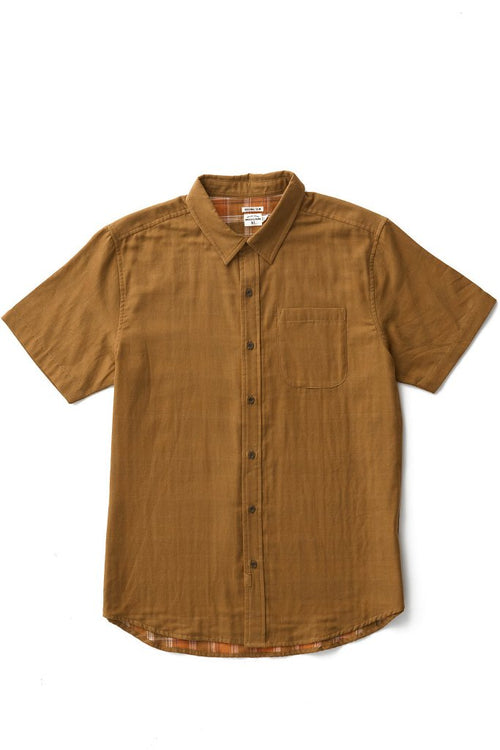 Harbor Short Sleeve Doublecloth Button Up - Tan