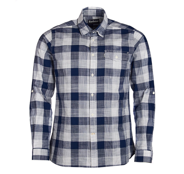 Barbour Pier Long Sleeve Button Up - Navy Stripe