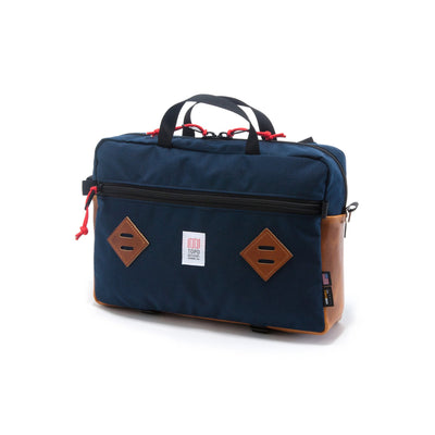 Mountain Briefcase - Navy/Leather