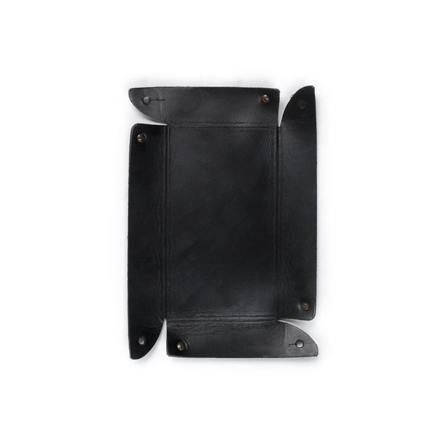 Leather Basin Catchall - Black